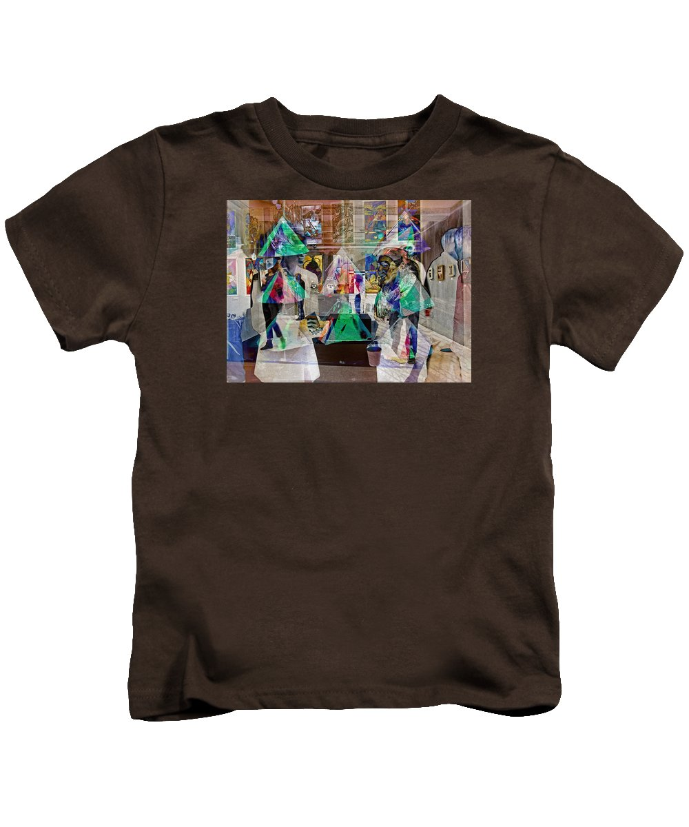 Bold Kids T-Shirt featuring the photograph Gallery Shuffle by David Thompson