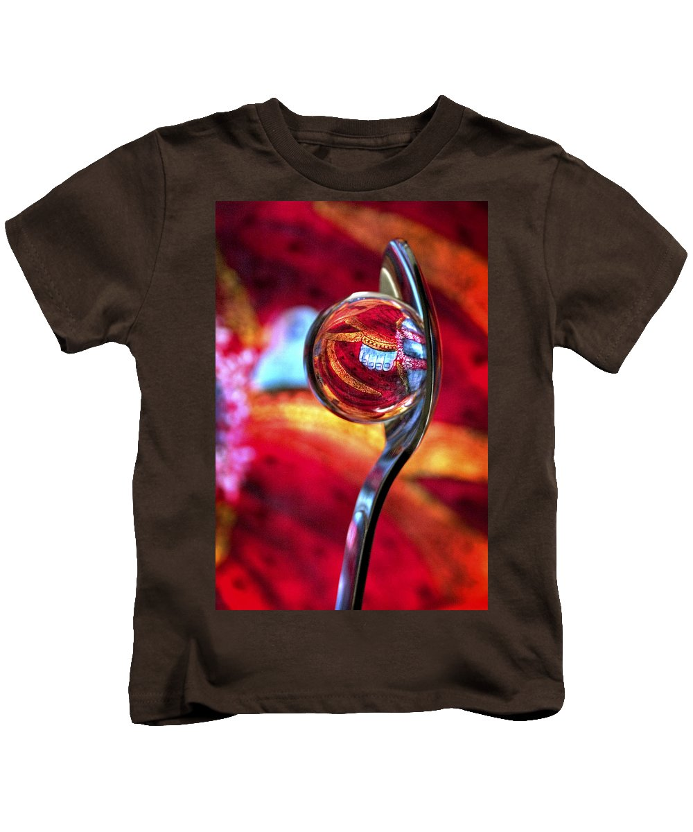 Ball Kids T-Shirt featuring the photograph Ganesh Spoon by Skip Hunt
