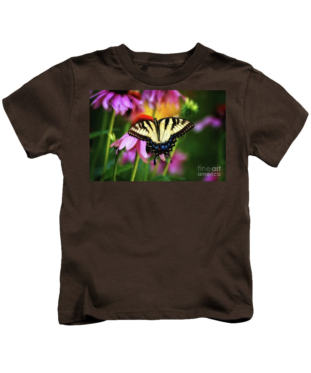 Butterfly Kids T-Shirt featuring the photograph Garden Jewelry by Lois Bryan