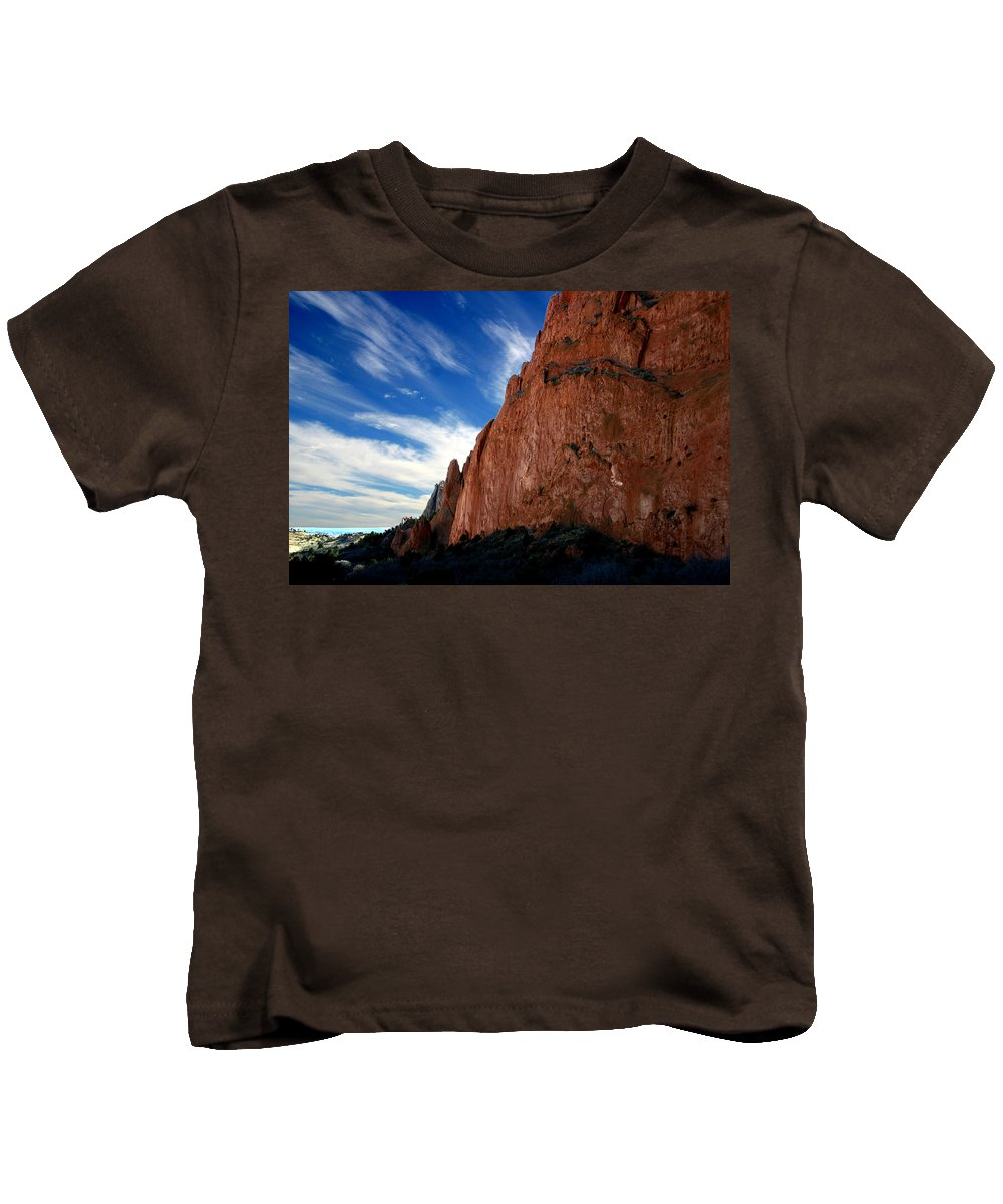 Garden Of The Gods Kids T-Shirt featuring the photograph Garden Of The Gods by Anthony Jones