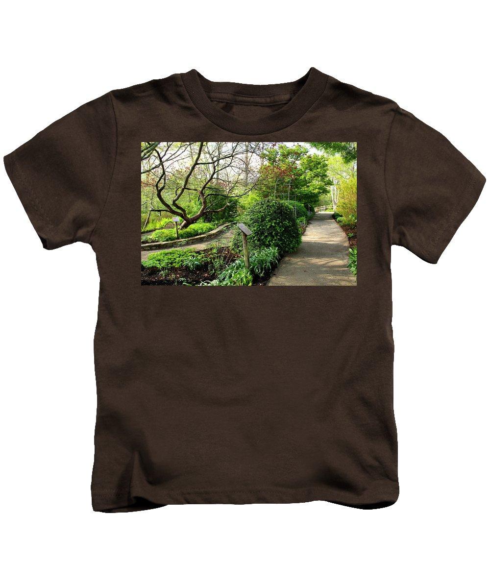 Garden Kids T-Shirt featuring the photograph Garden Paths by Allen Nice-Webb