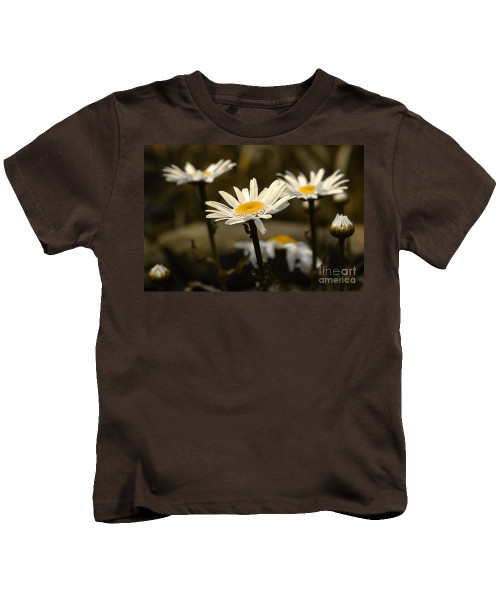 Daisies Kids T-Shirt featuring the photograph Garden Smiles by Michael Eingle