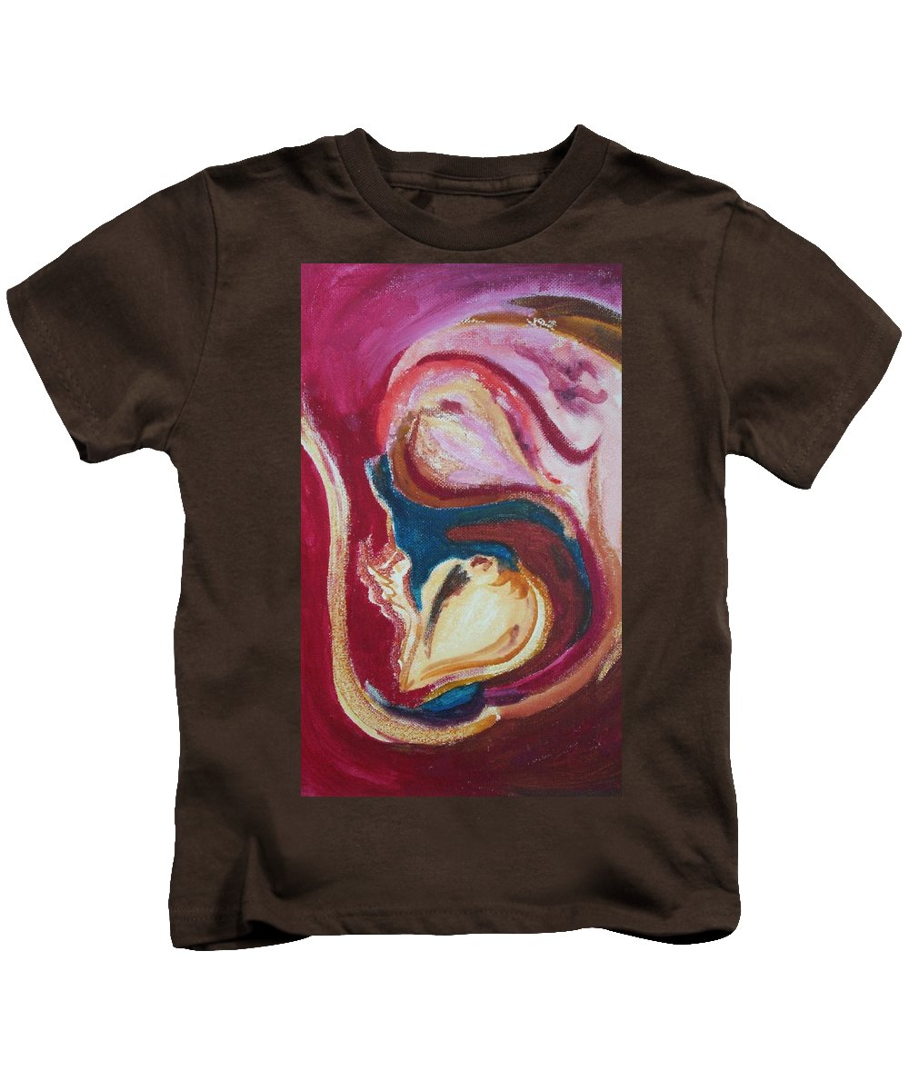Oil Painting Kids T-Shirt featuring the painting Garlic by Suzanne Udell Levinger