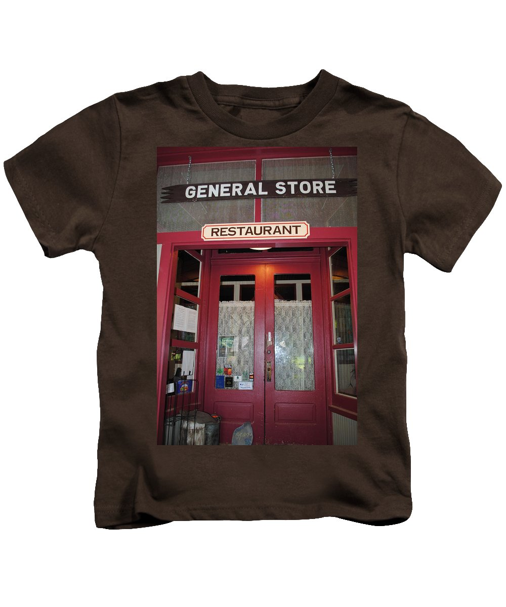 General Store Kids T-Shirt featuring the photograph General Store by Jost Houk