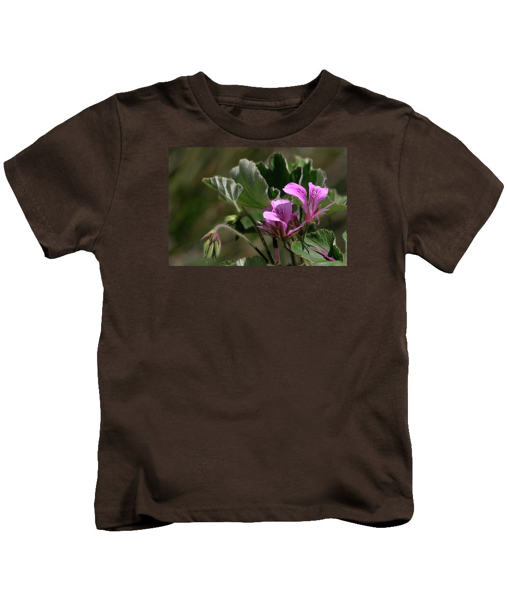 Flower Kids T-Shirt featuring the photograph Geranium Blossom by Grant Groberg