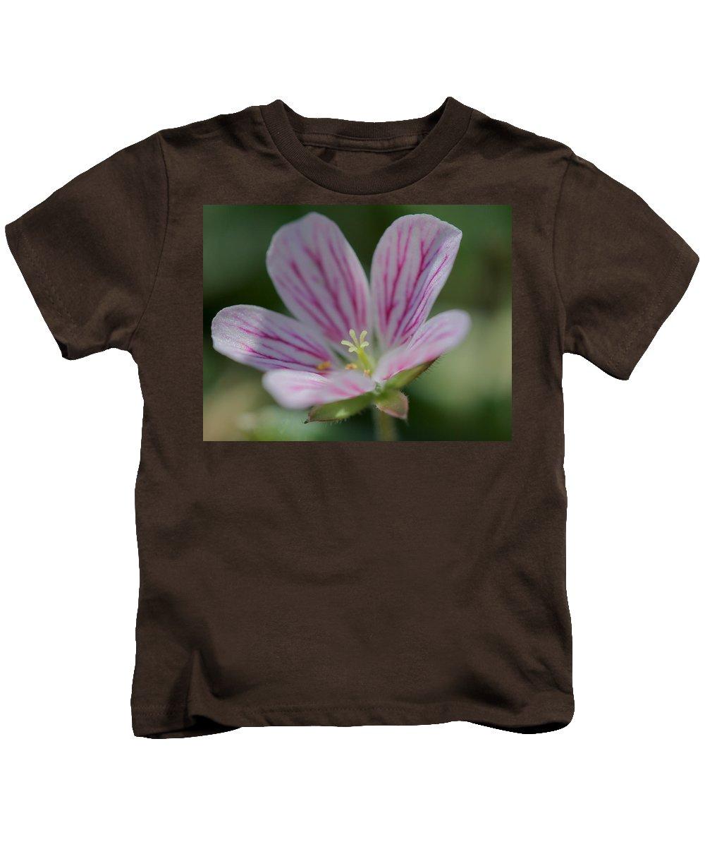 Geranium Kids T-Shirt featuring the photograph Geranium Detail 3 by Mo Barton