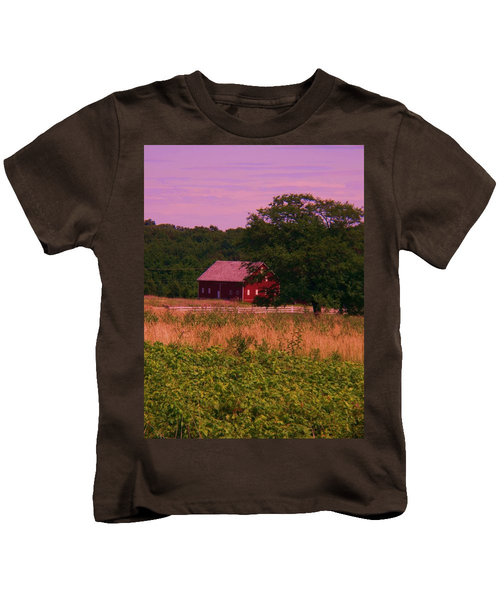 Gettysburg Kids T-Shirt featuring the photograph Gettysburg Barn by Eric Schiabor