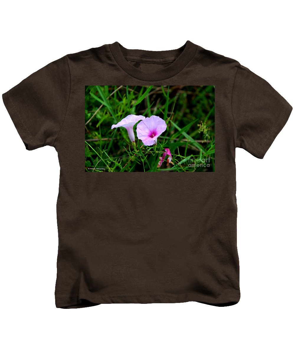 Glades Morning Glory Kids T-Shirt featuring the photograph Glades Morning Glory by Barbara Bowen