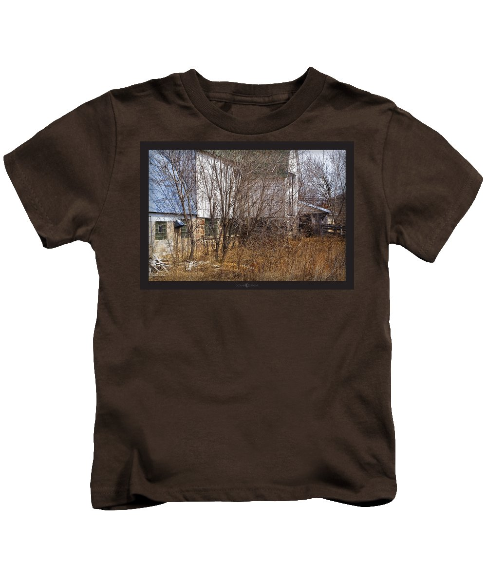 Barn Kids T-Shirt featuring the photograph Glass Block by Tim Nyberg