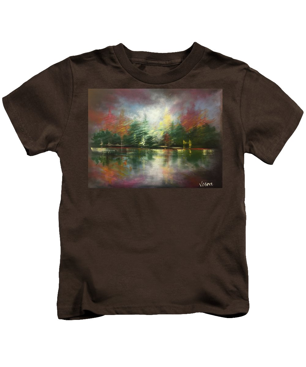 Impressionism Kids T-Shirt featuring the painting Glimpse Of A Moment by Vesna Delevska