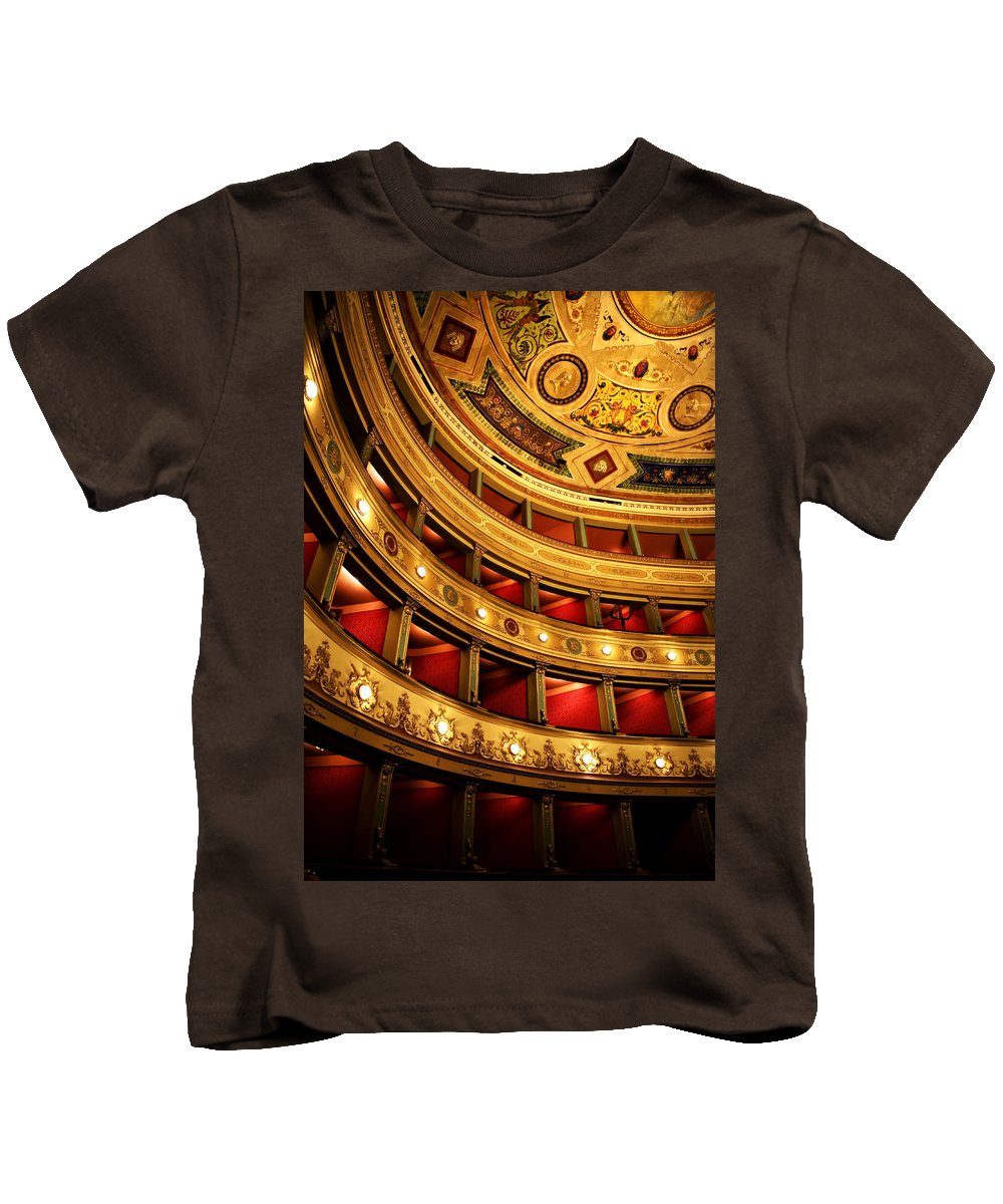 Theatre Kids T-Shirt featuring the photograph Glorious Old Theatre by Marilyn Hunt