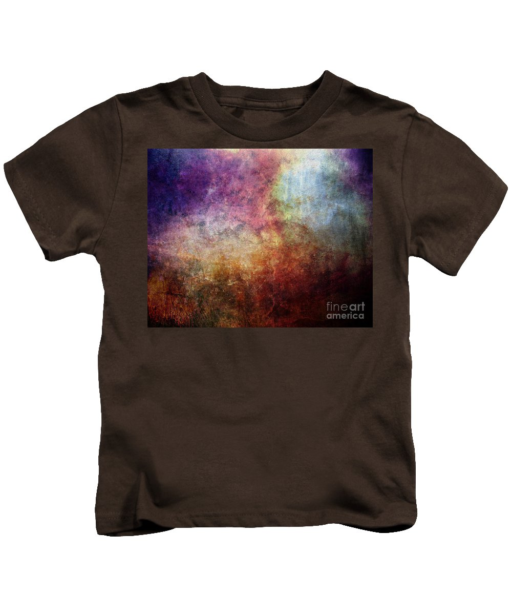 Abstract Painting Kids T-Shirt featuring the painting Glory Oil Abstract Painting by Justyna JBJart