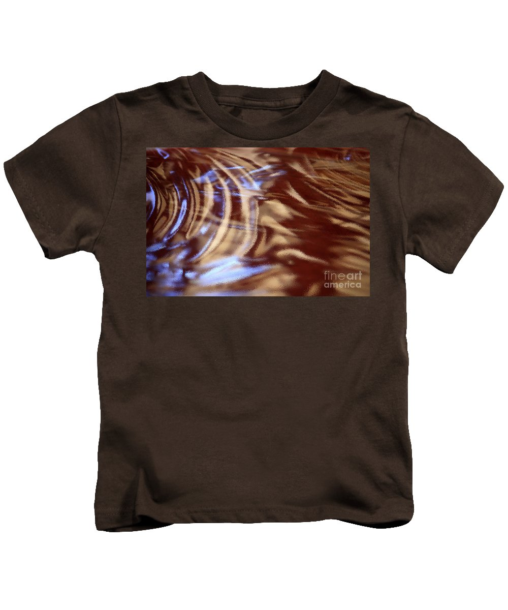 Abstract Kids T-Shirt featuring the photograph Go With The Flow - Abstract Art by Carol Groenen
