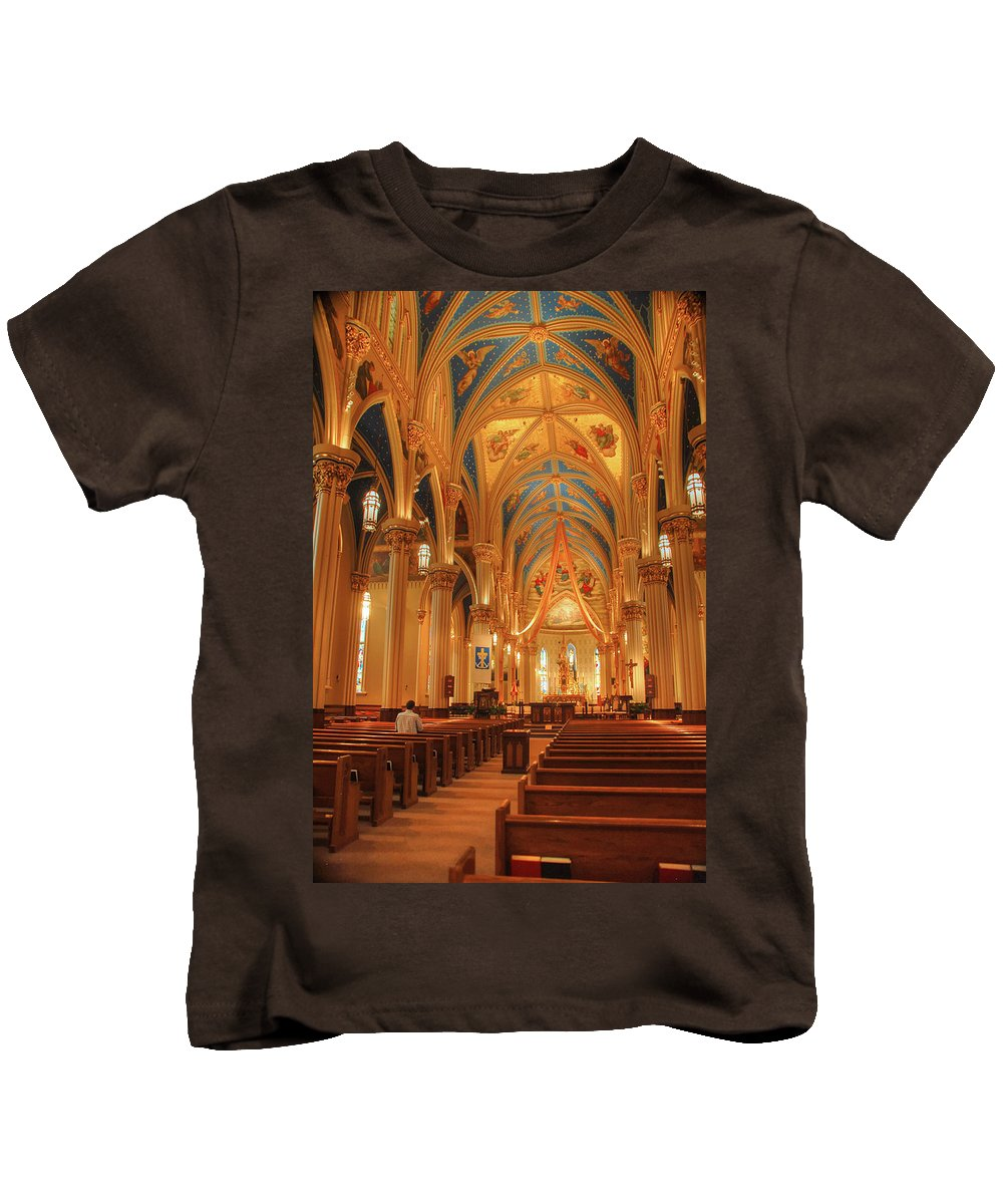 Cathedral Kids T-Shirt featuring the photograph God Do You Hear Me by Ken Smith