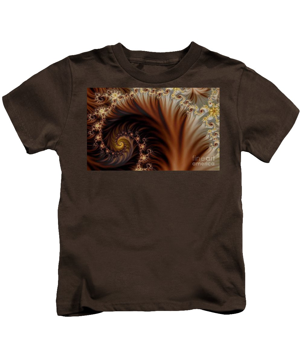 Clay Kids T-Shirt featuring the digital art Gold In Them Hills by Clayton Bruster