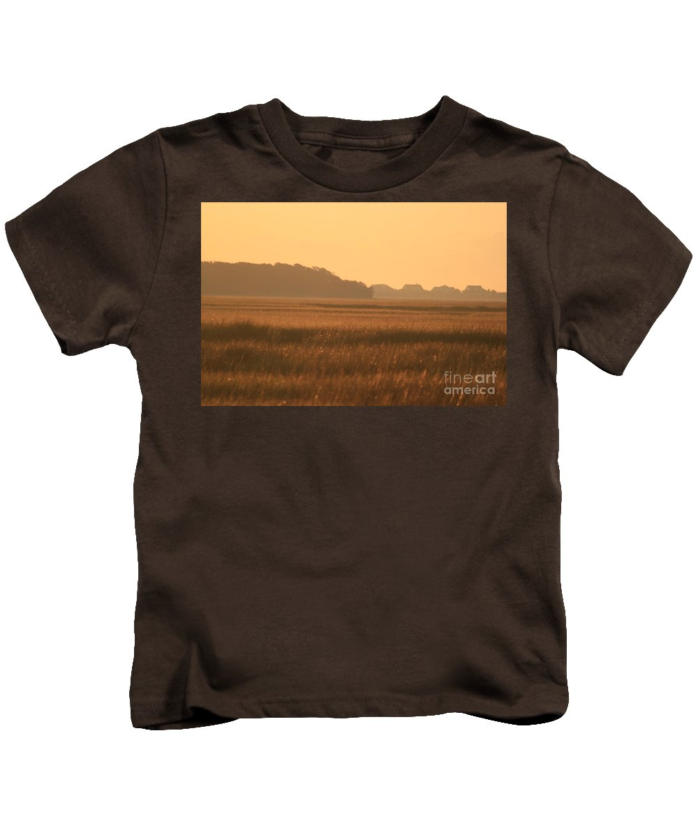 Marsh Kids T-Shirt featuring the photograph Golden Marshes by Nadine Rippelmeyer