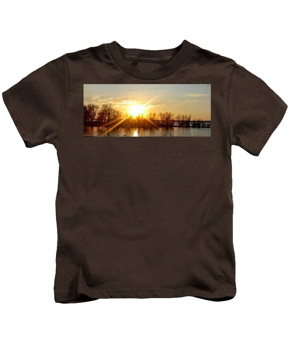 Lake View Kids T-Shirt featuring the photograph Grand Lake Sunset by Howard Hansen