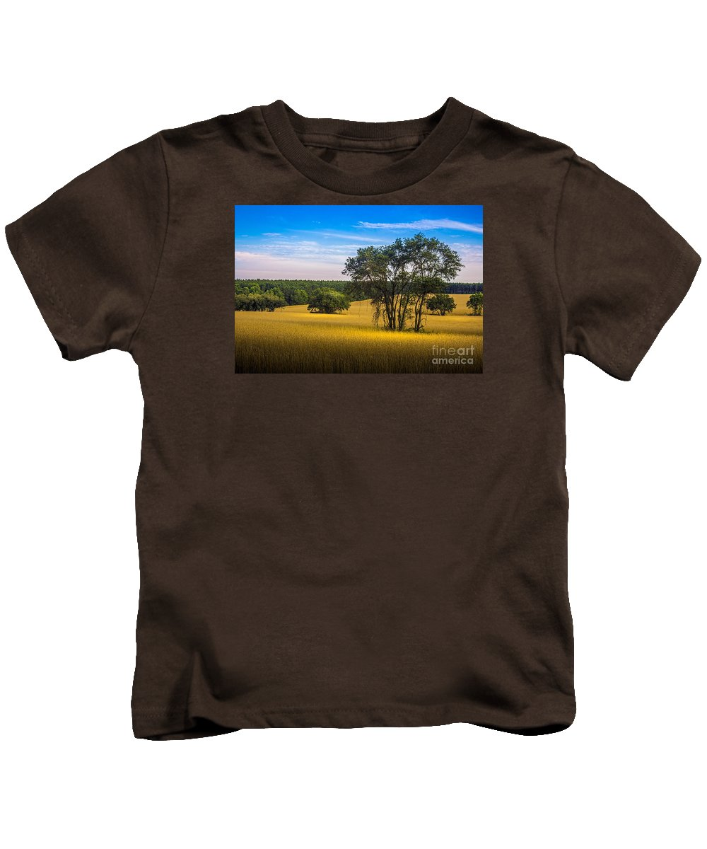 Marvin Spates Kids T-Shirt featuring the photograph Grassland Safari by Marvin Spates