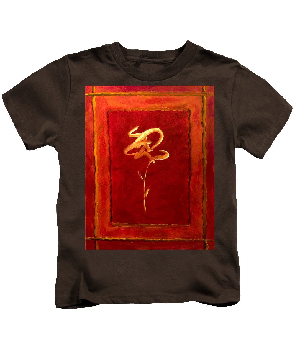 Abstract Flower Kids T-Shirt featuring the painting Gratitude by Shannon Grissom