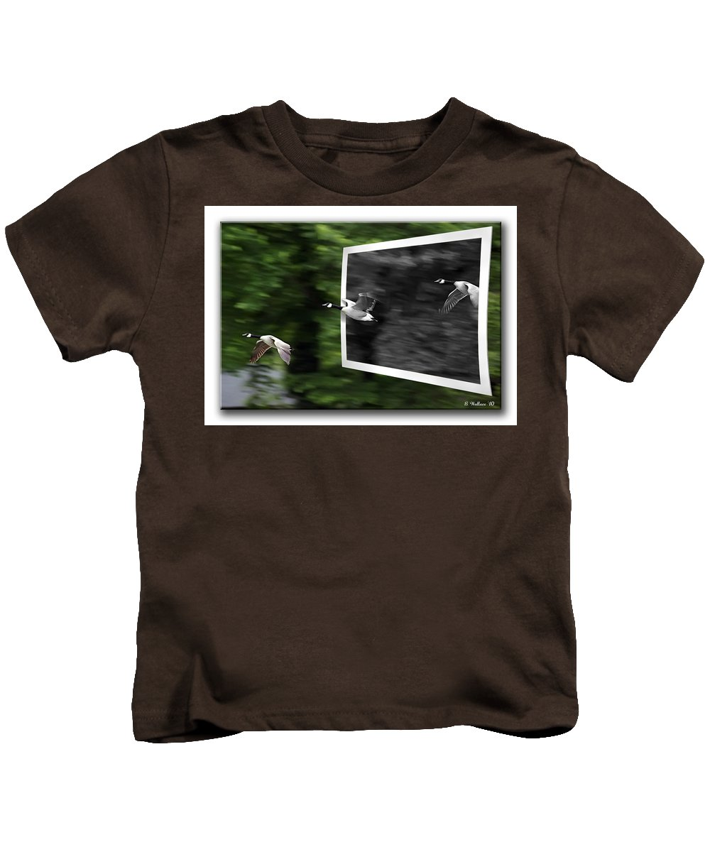 2d Kids T-Shirt featuring the photograph Grayscale To Color by Brian Wallace