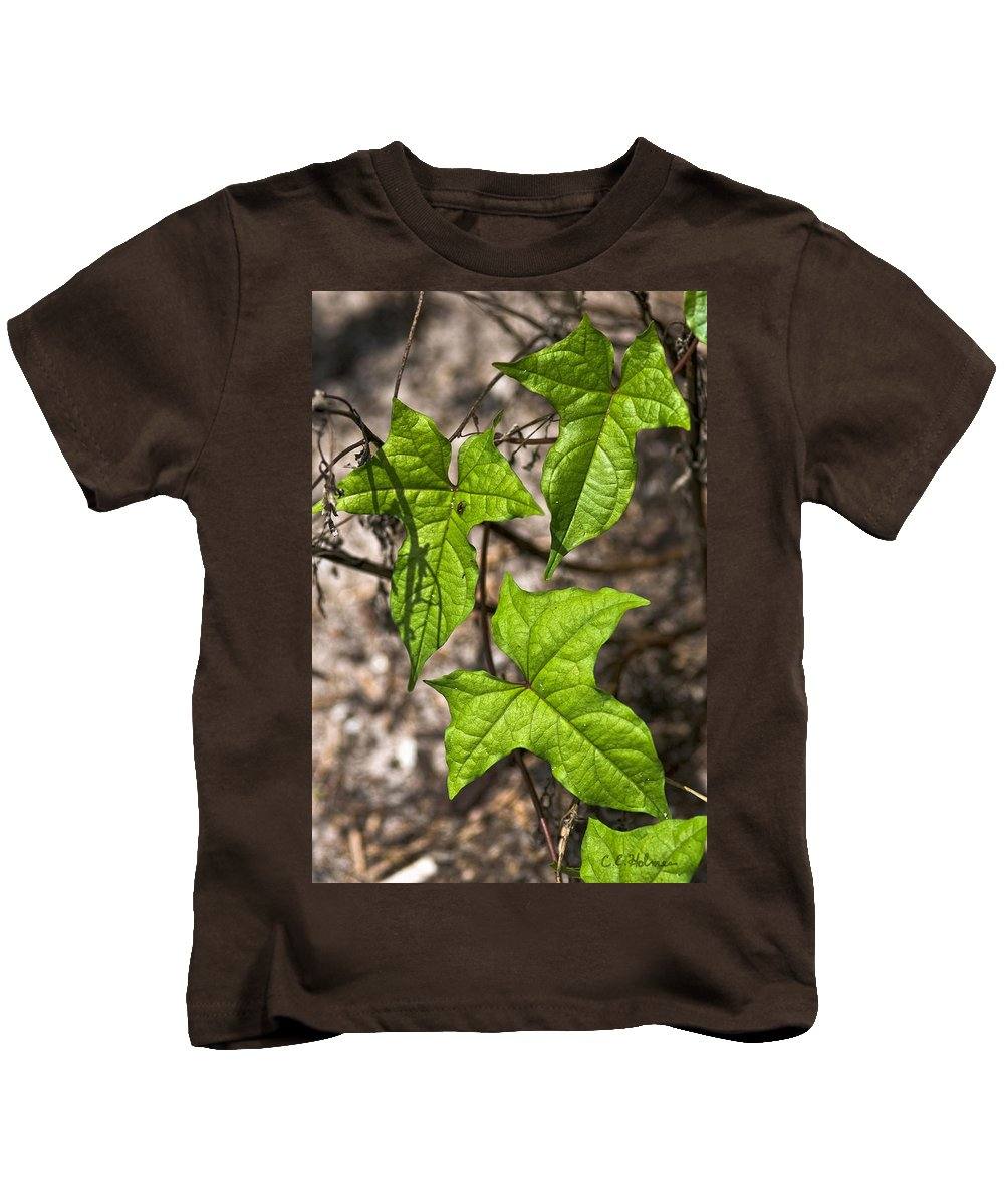 Green Kids T-Shirt featuring the photograph Green Arrowheads by Christopher Holmes
