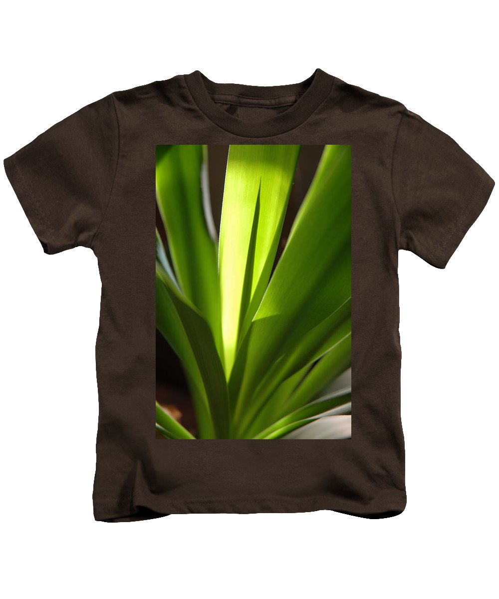 Green Kids T-Shirt featuring the photograph Green Patterns by Jerry McElroy