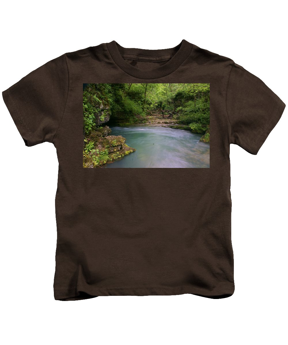 Greer Spring Kids T-Shirt featuring the photograph Greer Spring by Marty Koch