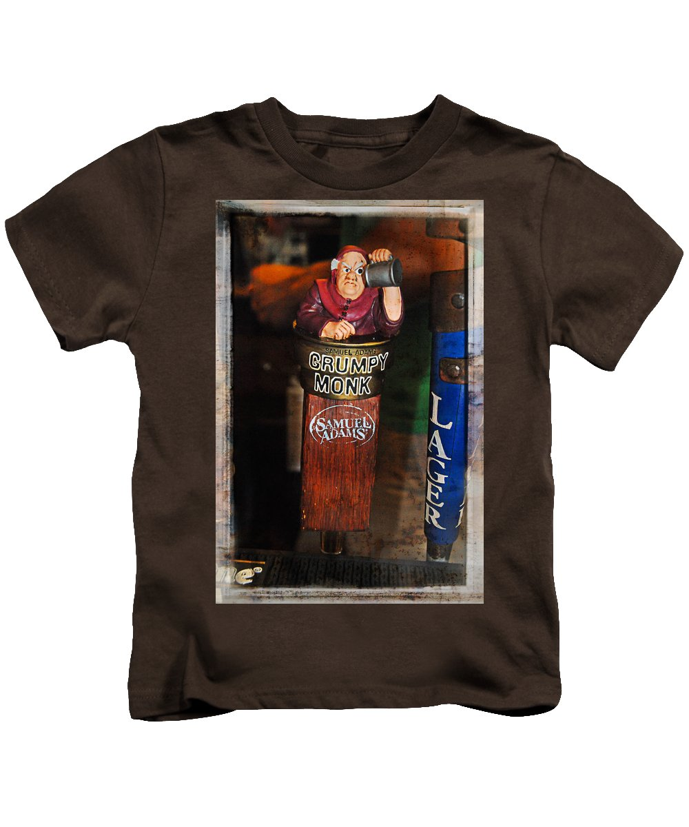 Beer Kids T-Shirt featuring the photograph Grumpy Monk by Mike Martin