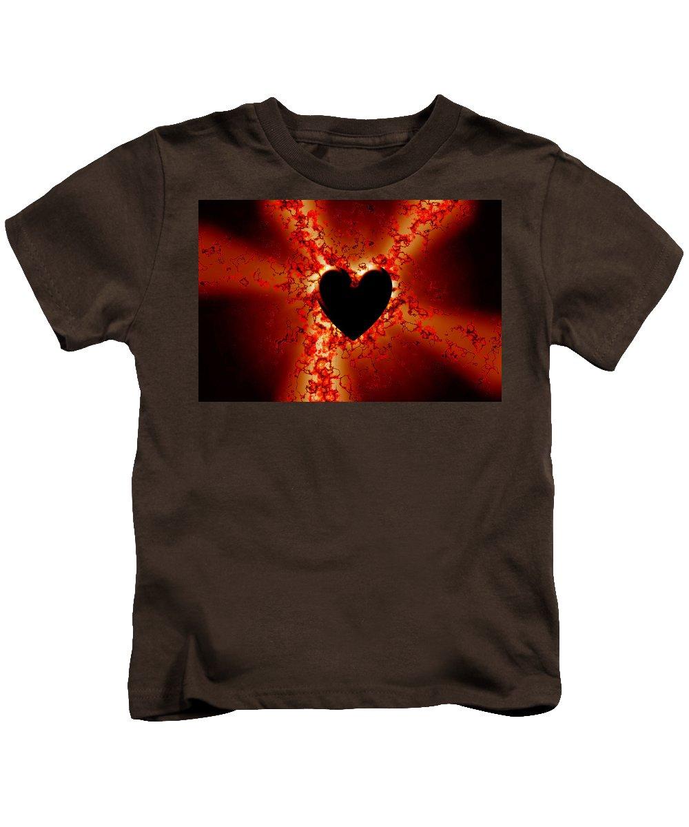 Grunge Kids T-Shirt featuring the digital art Grunge Heart by Phill Petrovic