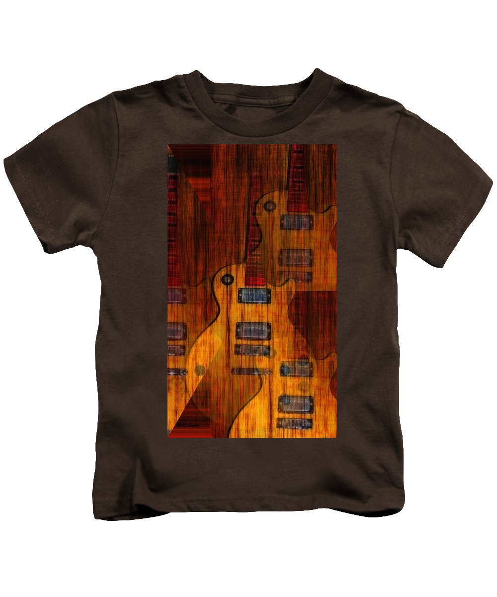 Les Paul Kids T-Shirt featuring the photograph Guitar Army by Bill Cannon