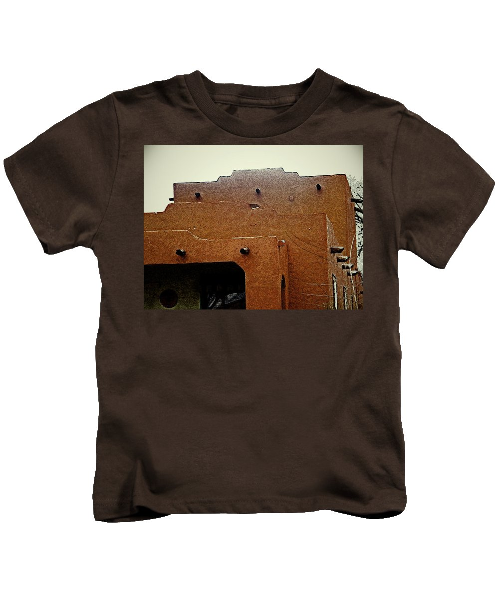 Abstract Kids T-Shirt featuring the digital art Hacienda 12 by Lenore Senior
