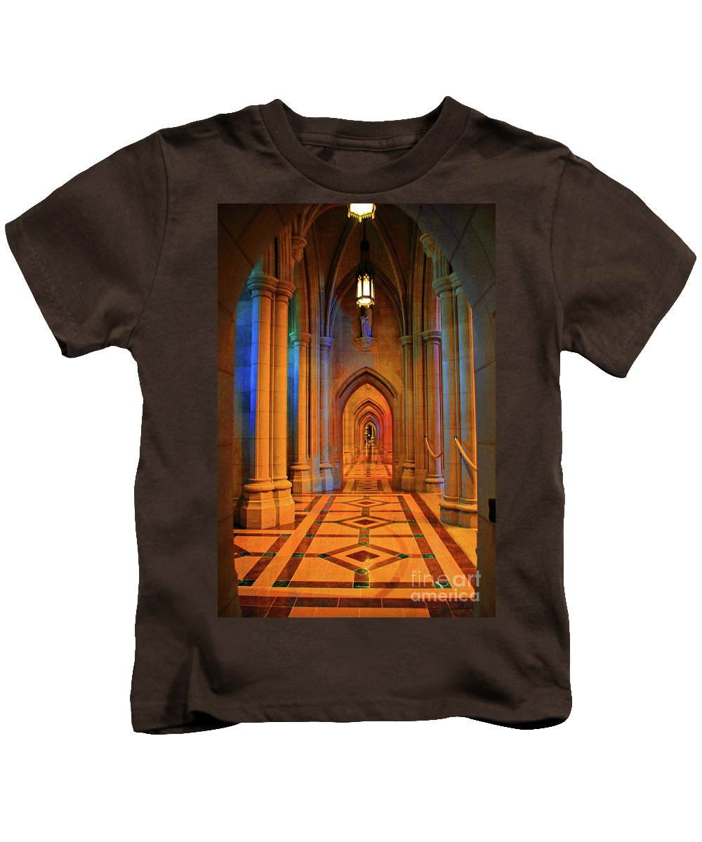 Washington Kids T-Shirt featuring the photograph Hall Of The Cathedral by Jost Houk