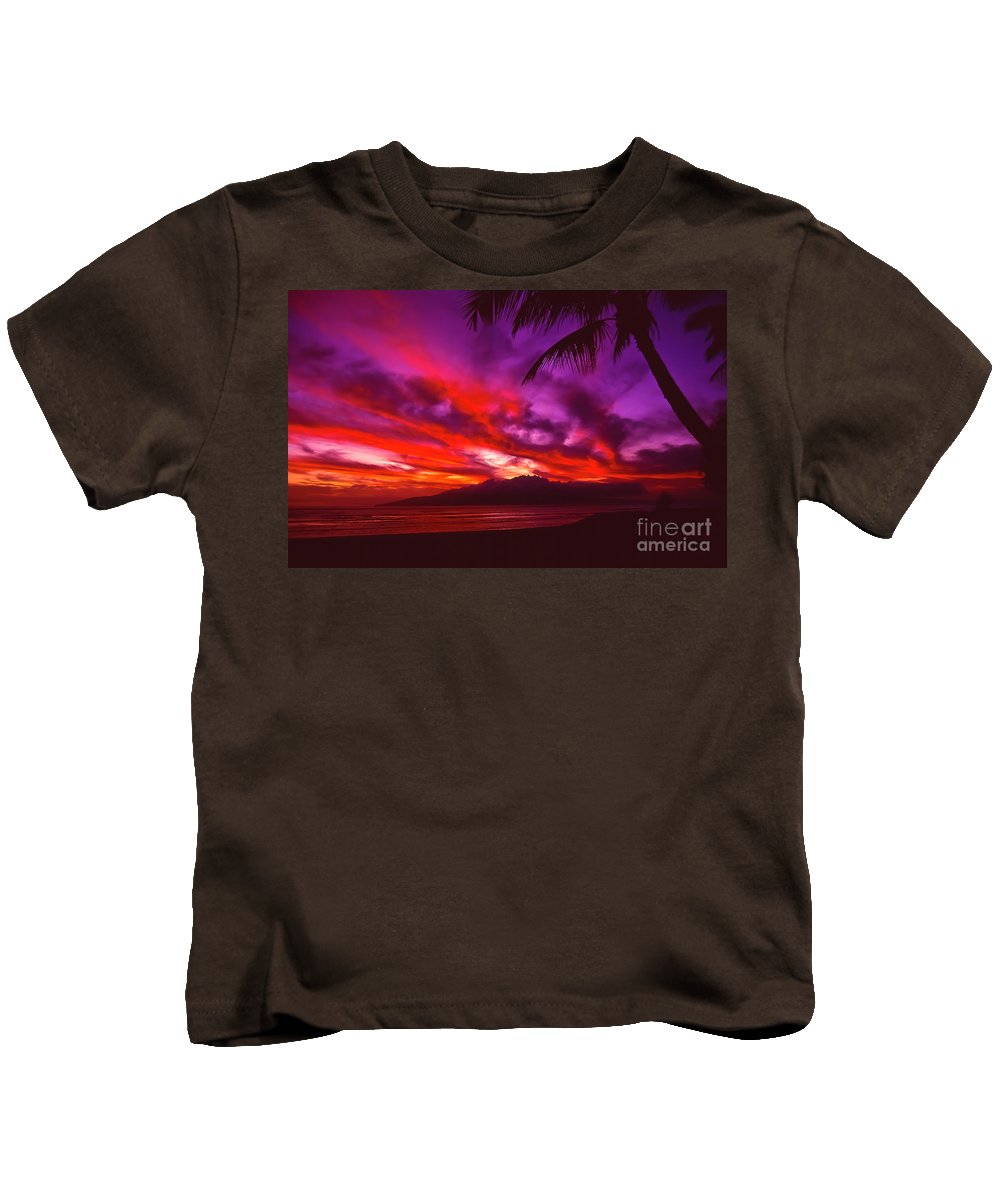 Landscapes Kids T-Shirt featuring the photograph Hand Of Fire by Jim Cazel