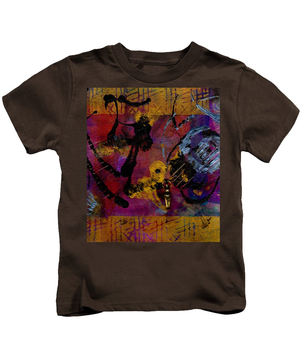 Gretting Cards Kids T-Shirt featuring the mixed media Happiness by Angela L Walker