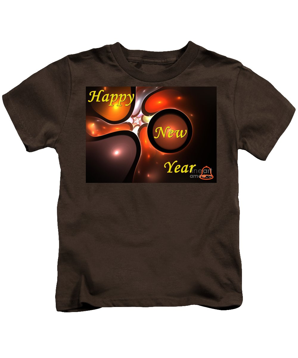 Year Kids T-Shirt featuring the digital art Happy New Year by Steve K