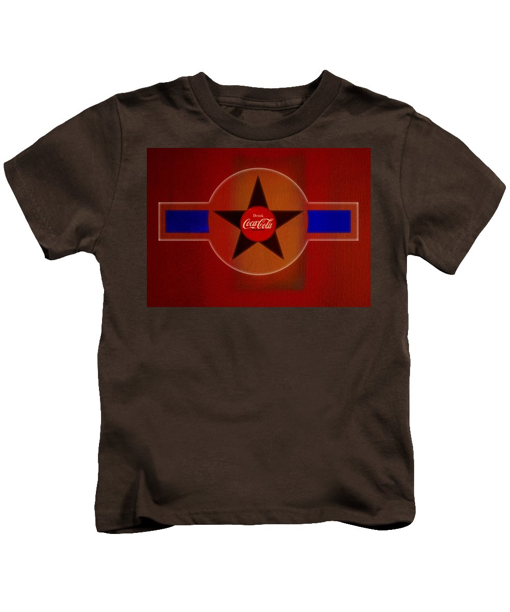Label Kids T-Shirt featuring the painting Harmony In Red by Charles Stuart