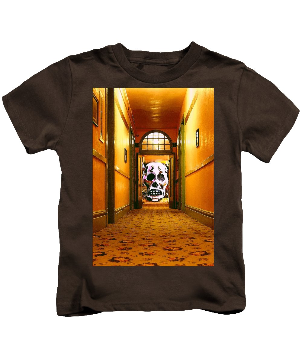 Haunted Kids T-Shirt featuring the photograph Haunted Hallway by Nelson Strong