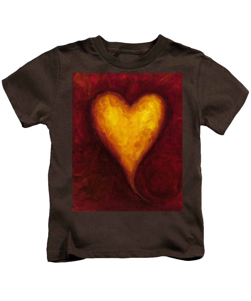 Heart Kids T-Shirt featuring the painting Heart Of Gold 1 by Shannon Grissom