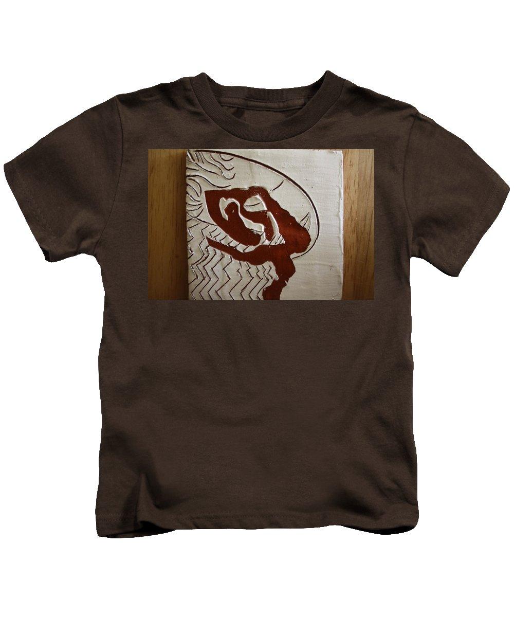 Jesus Kids T-Shirt featuring the ceramic art Heavens Above - Tile by Gloria Ssali