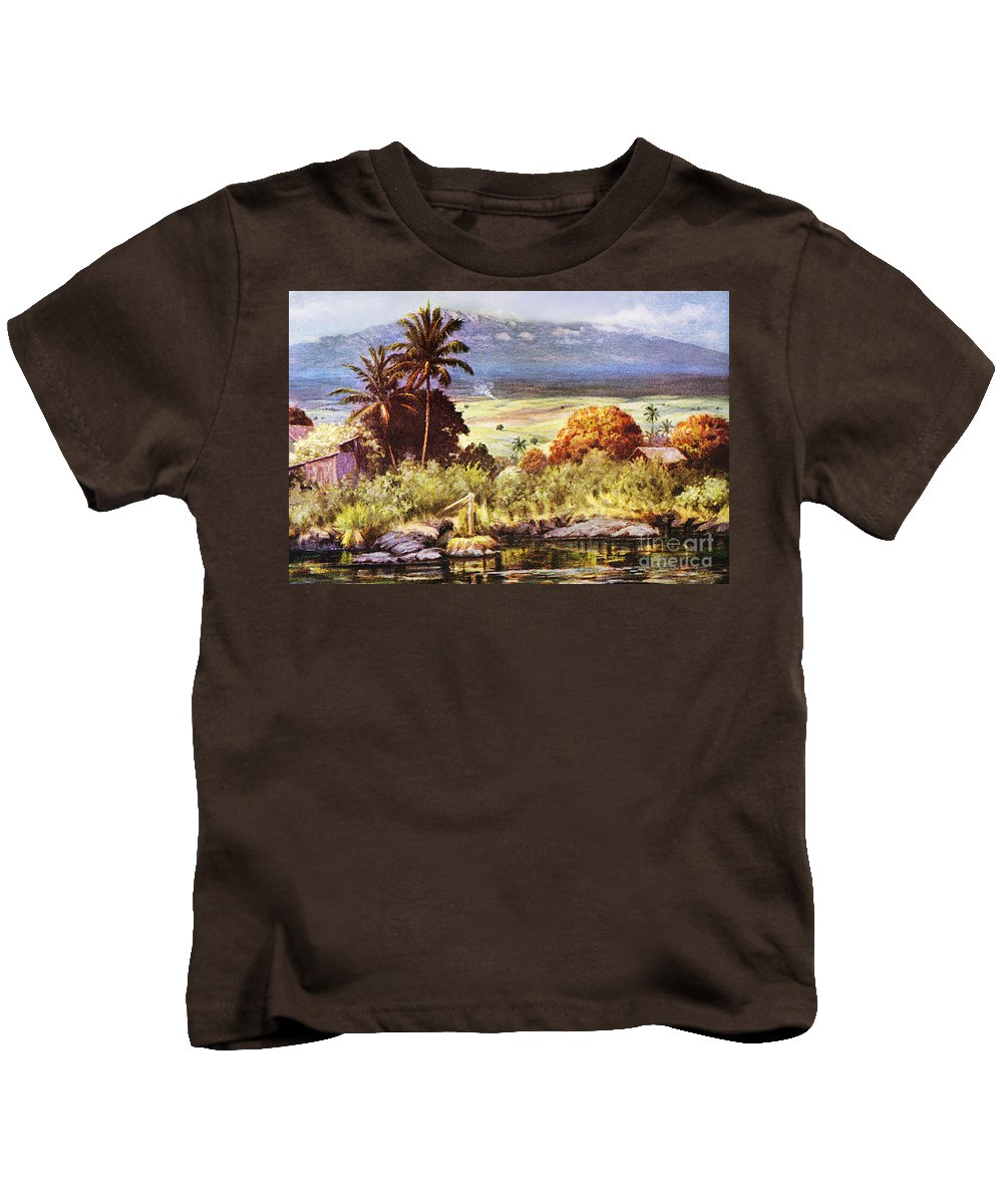 1925 Kids T-Shirt featuring the painting Helen Dranga Art by Hawaiian Legacy Archive - Printscapes