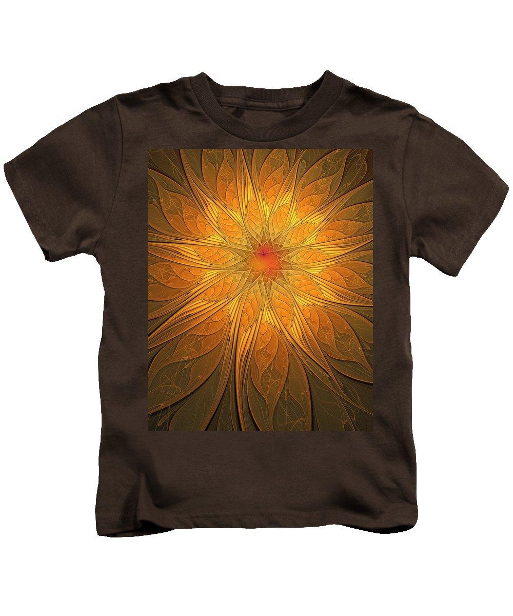 Digital Art Kids T-Shirt featuring the digital art Helio by Amanda Moore