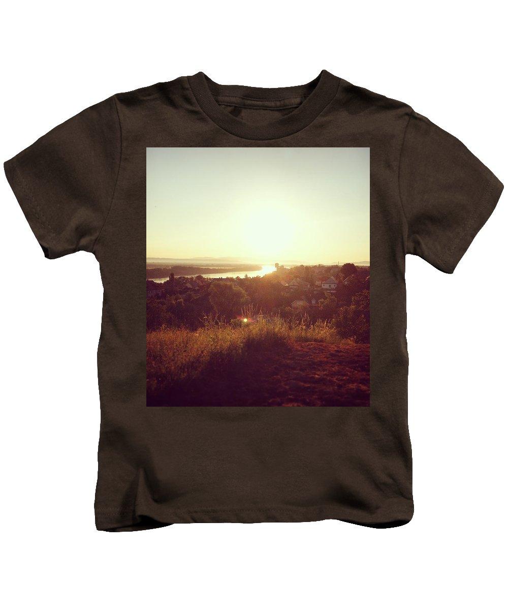 Kids T-Shirt featuring the photograph Hometown by Adam Schrenk