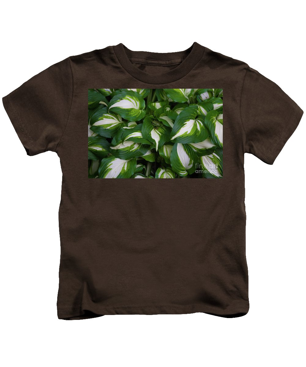Blue Kids T-Shirt featuring the photograph Hosta by Alan Look