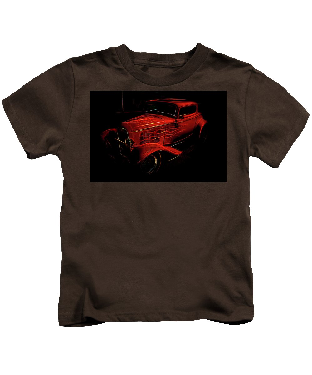 Hot Rod Kids T-Shirt featuring the photograph Hot Rod Red by Melvin Busch
