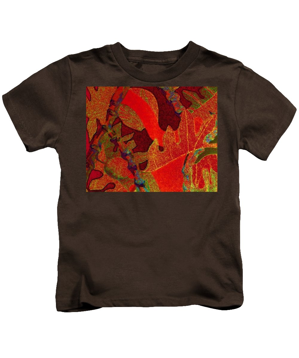 Modern Kids T-Shirt featuring the painting Hot Ulu by Jamie Laniakea Clark