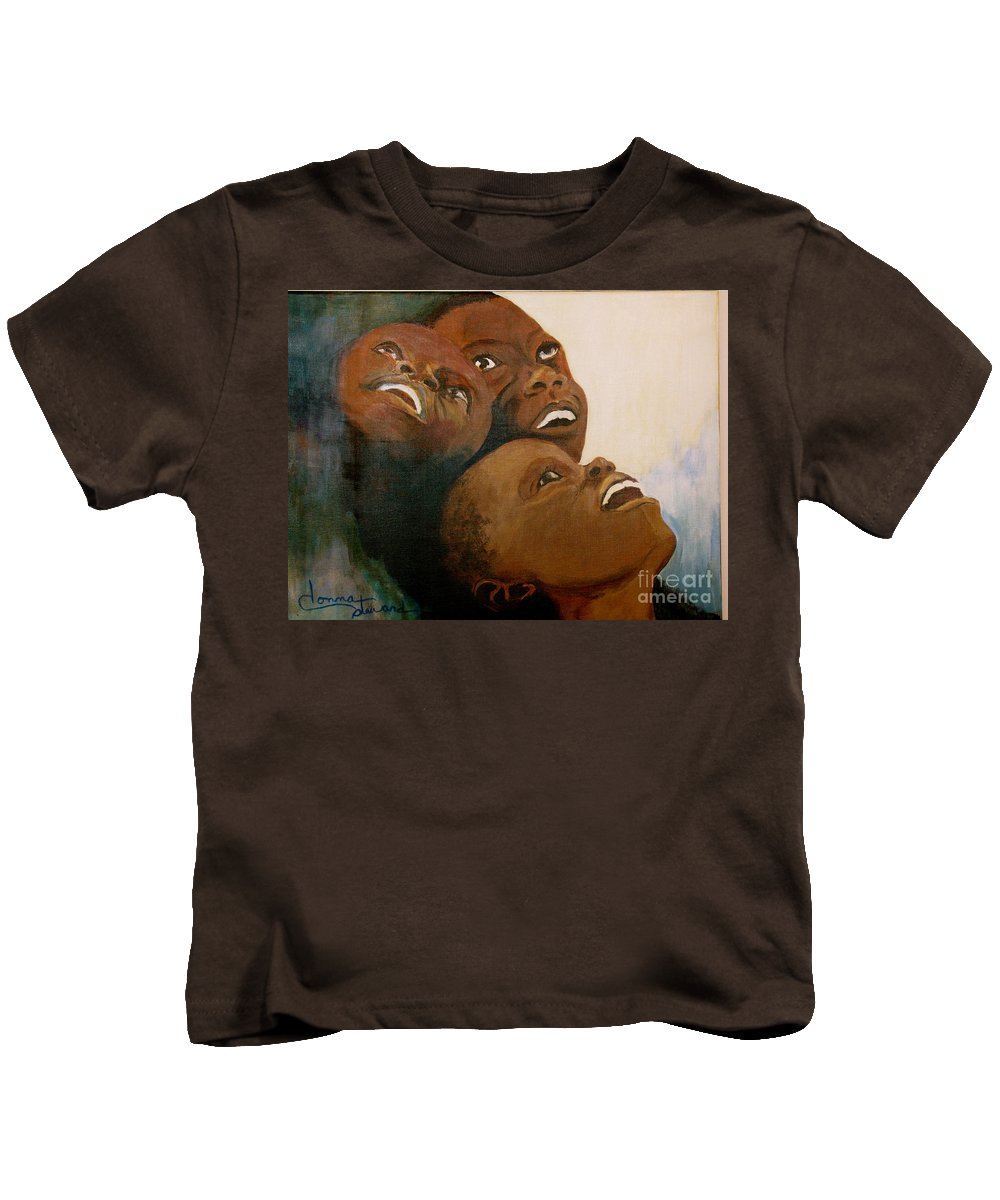 Bahamas Kids T-Shirt featuring the painting I Will Lift Up My Eyes by Donna Steward