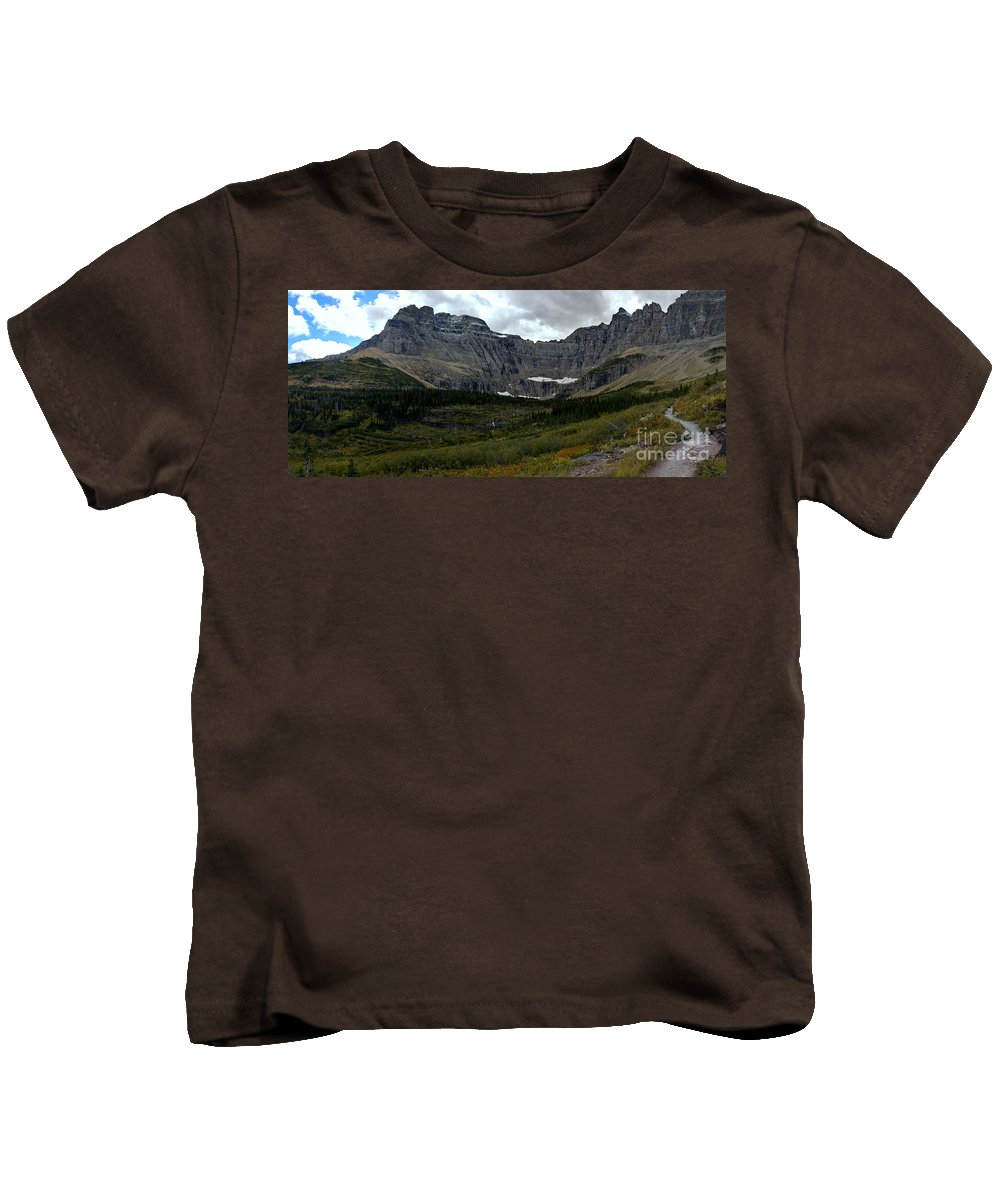Kids T-Shirt featuring the photograph Iceberg Lake Trail by Adam Jewell