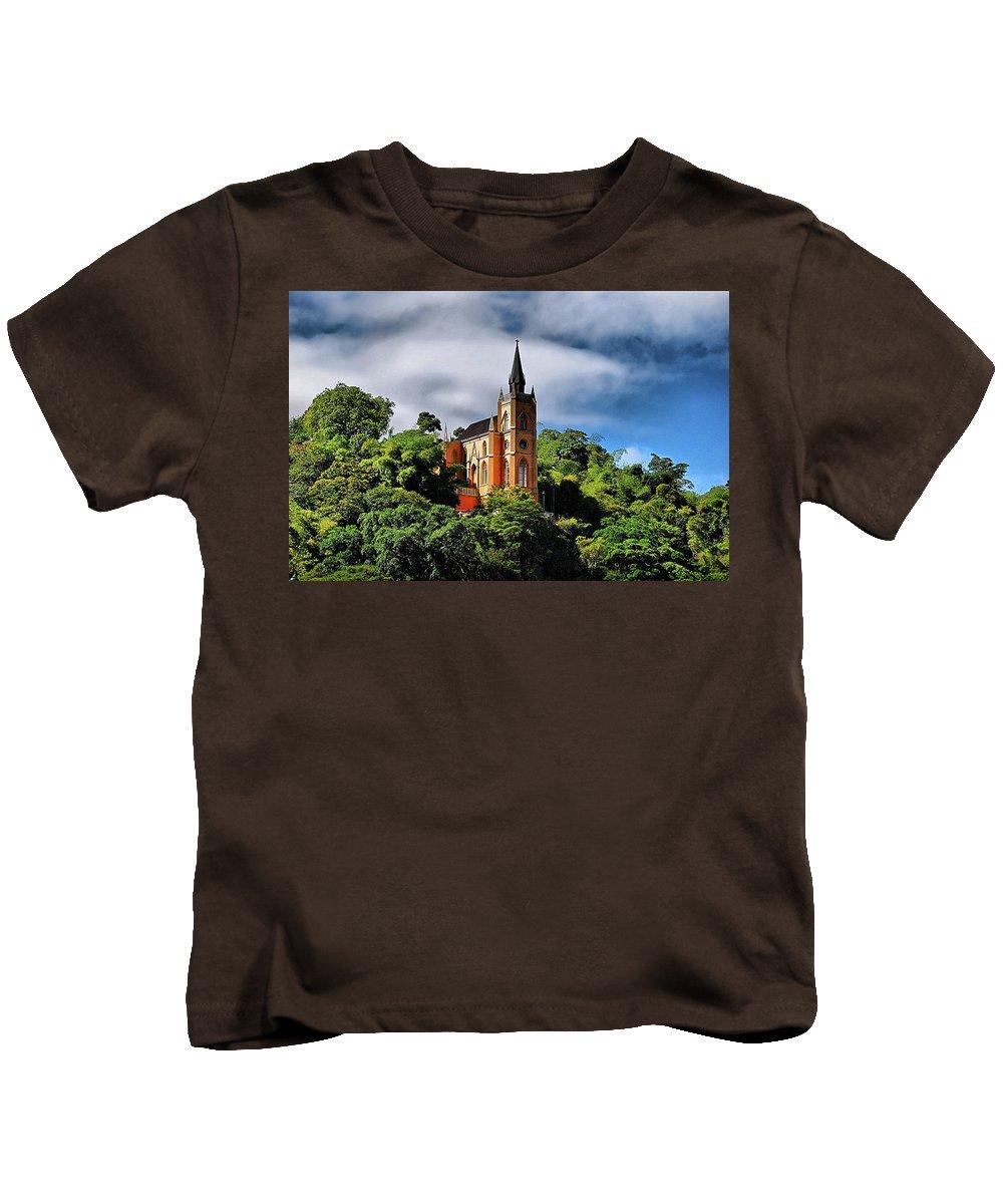 Church Kids T-Shirt featuring the photograph Iglesia Del Calvario by Galeria Trompiz