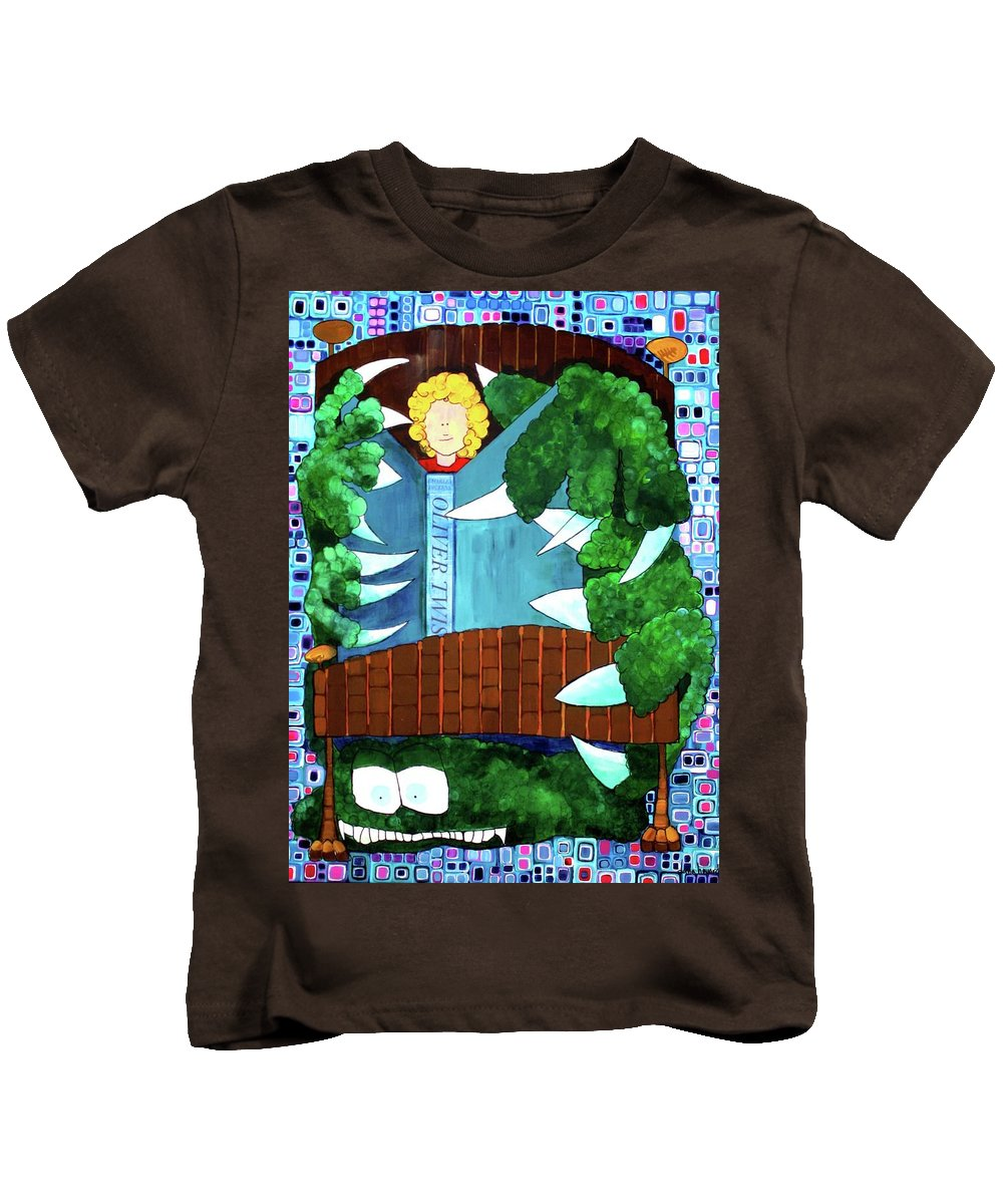 Whimsical Kids T-Shirt featuring the painting In My Room by Donna Howard