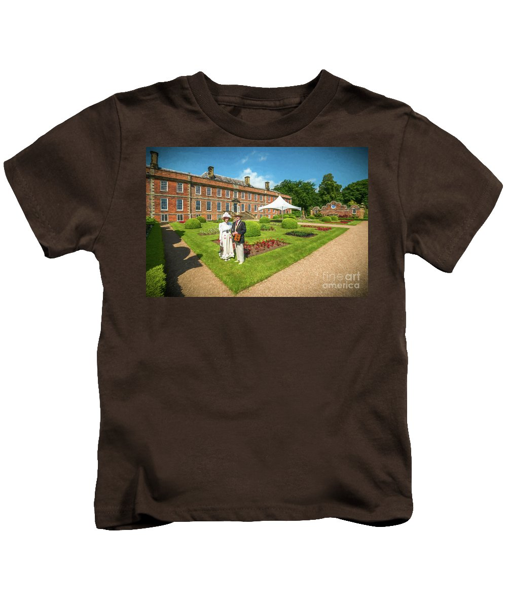 Stately Home Kids T-Shirt featuring the photograph In The Garden by Adrian Evans